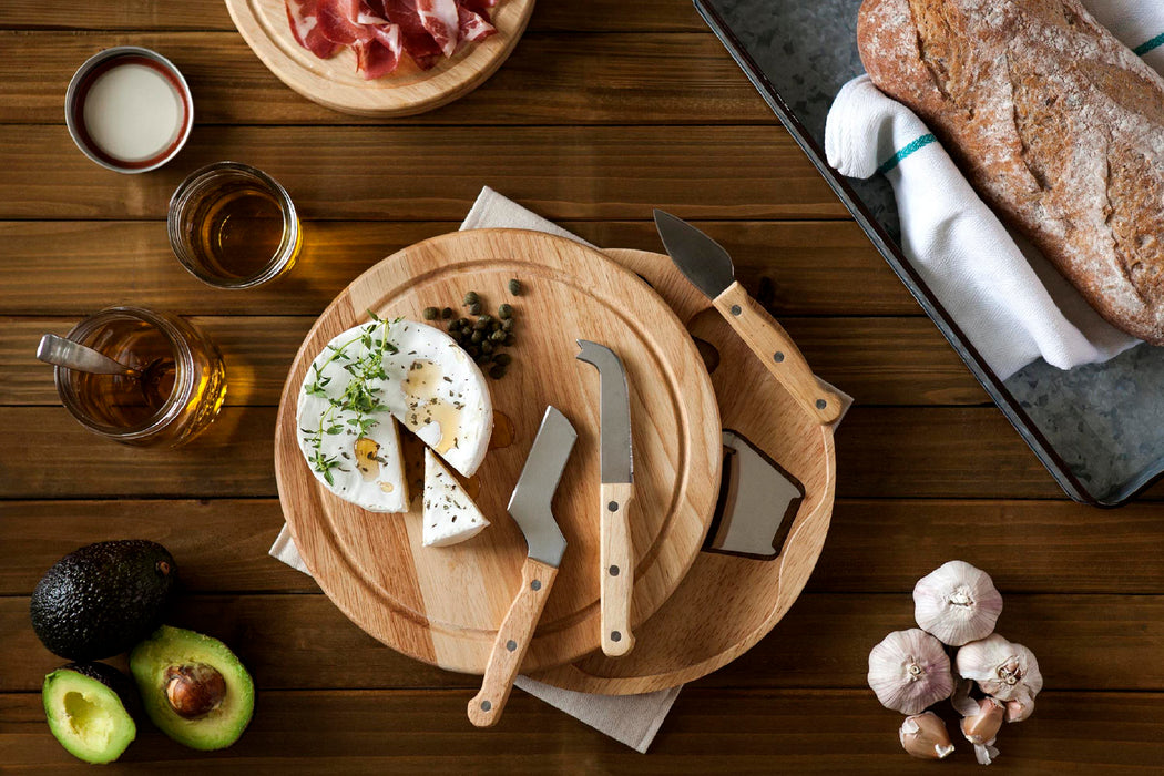 Rubberwood Cheese Board with Tools