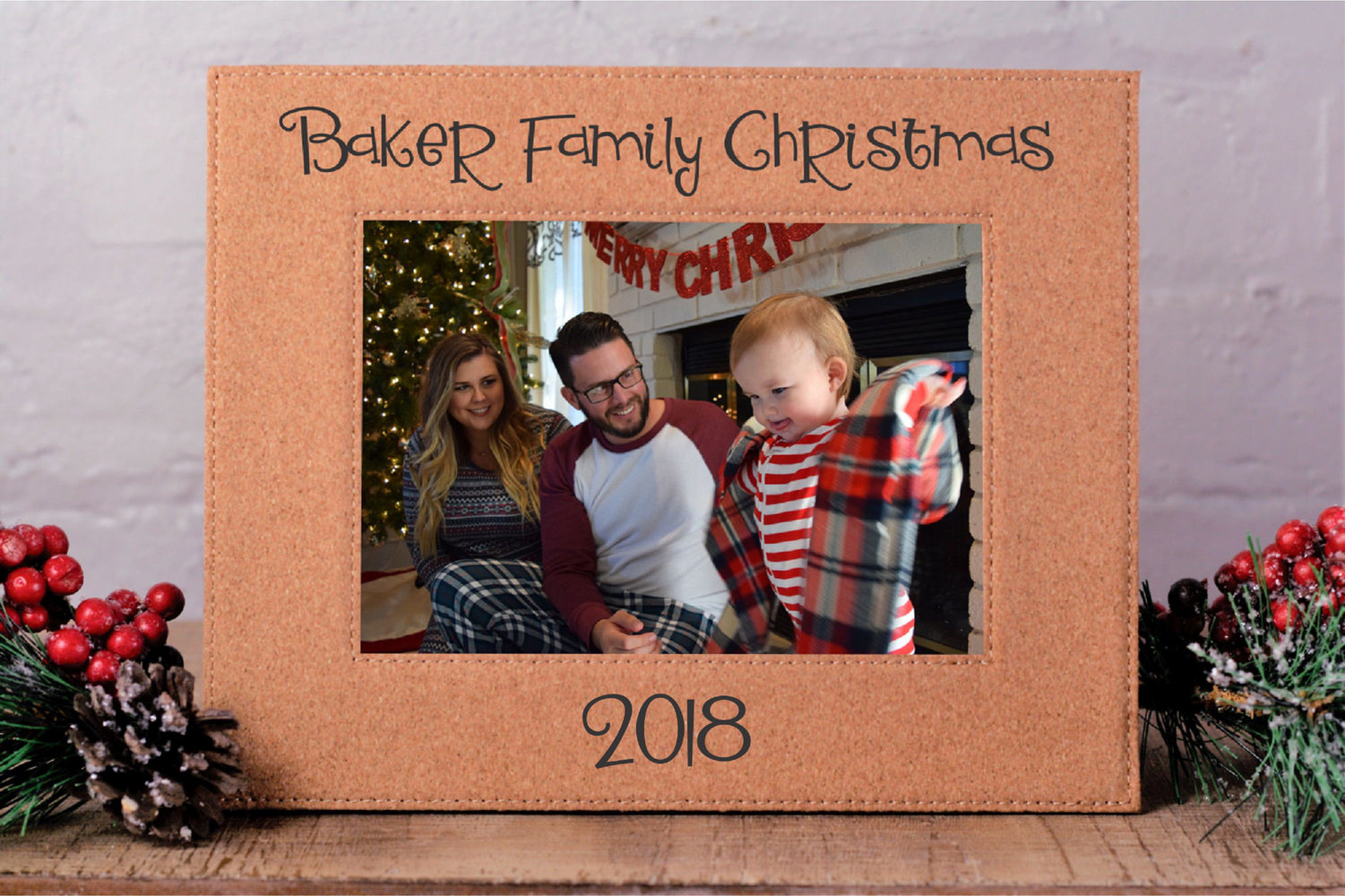 Family Christmas | Leatherette Picture Frame
