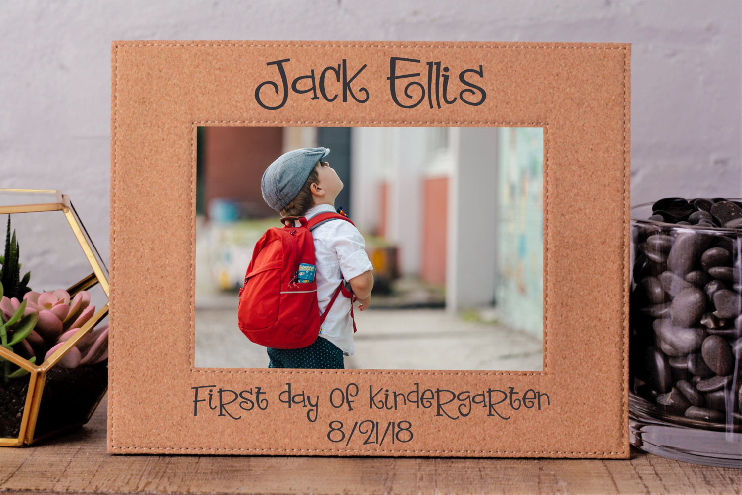 First Day School | Leatherette Picture Frame