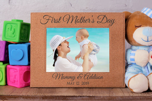 First Mother's Day | Leatherette Picture Frame