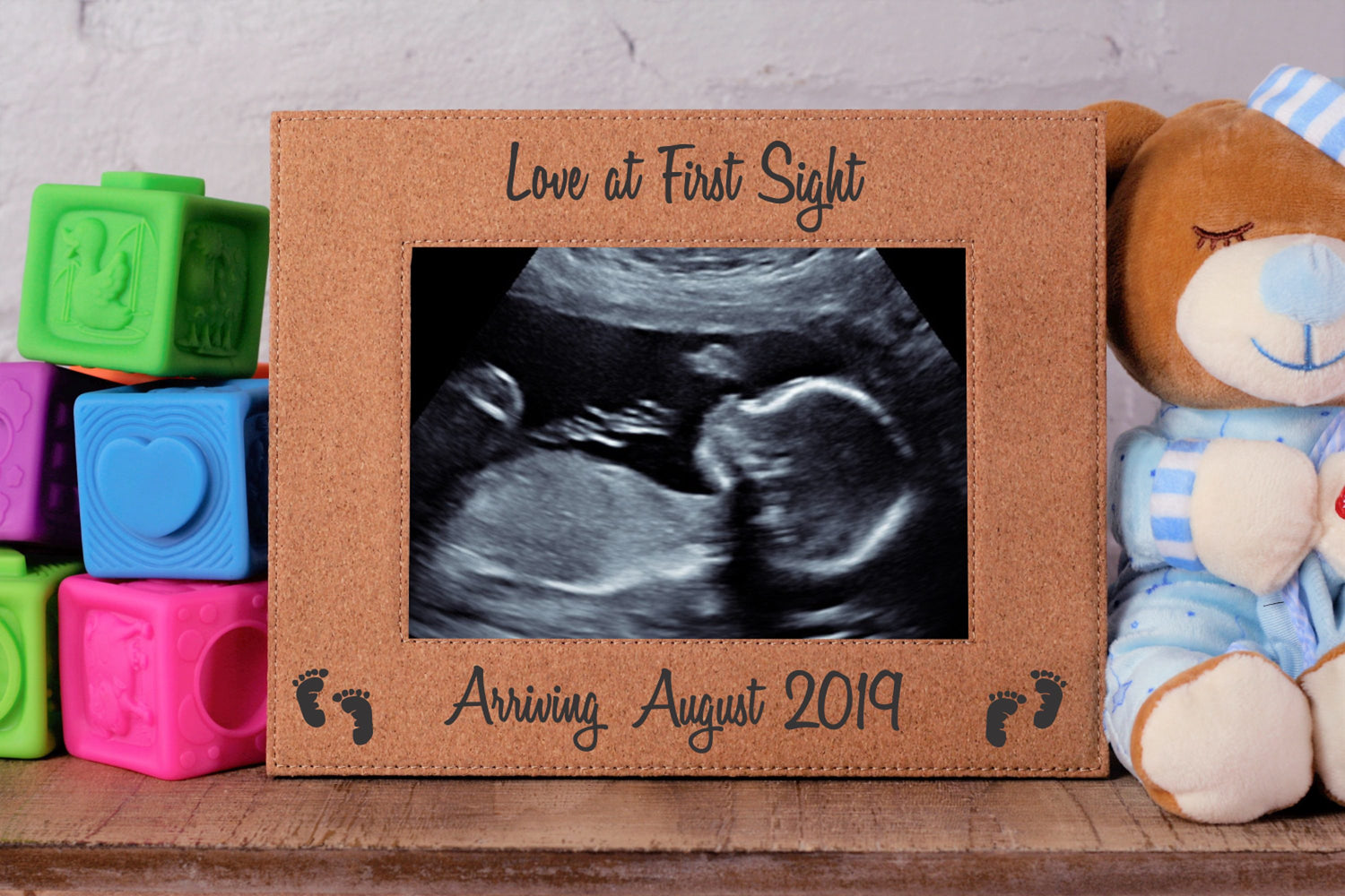 Love At First Ultrasound | Leatherette Picture Frame