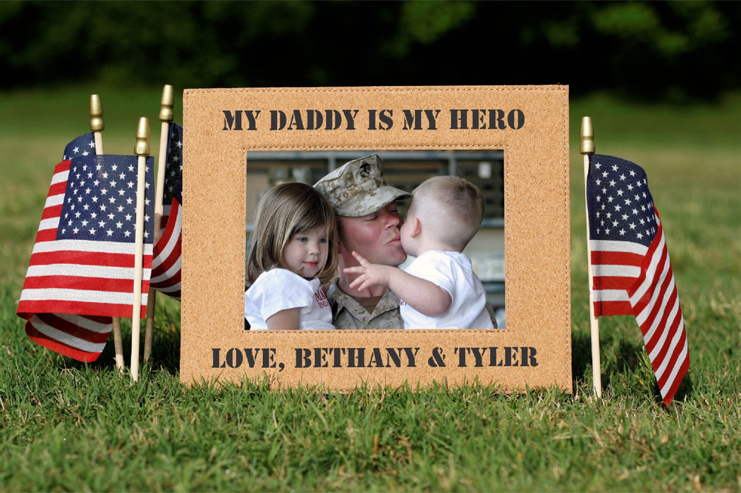 Military Hero | Leatherette Picture Frame