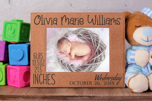 Newborn | Leatherette Picture Frame
