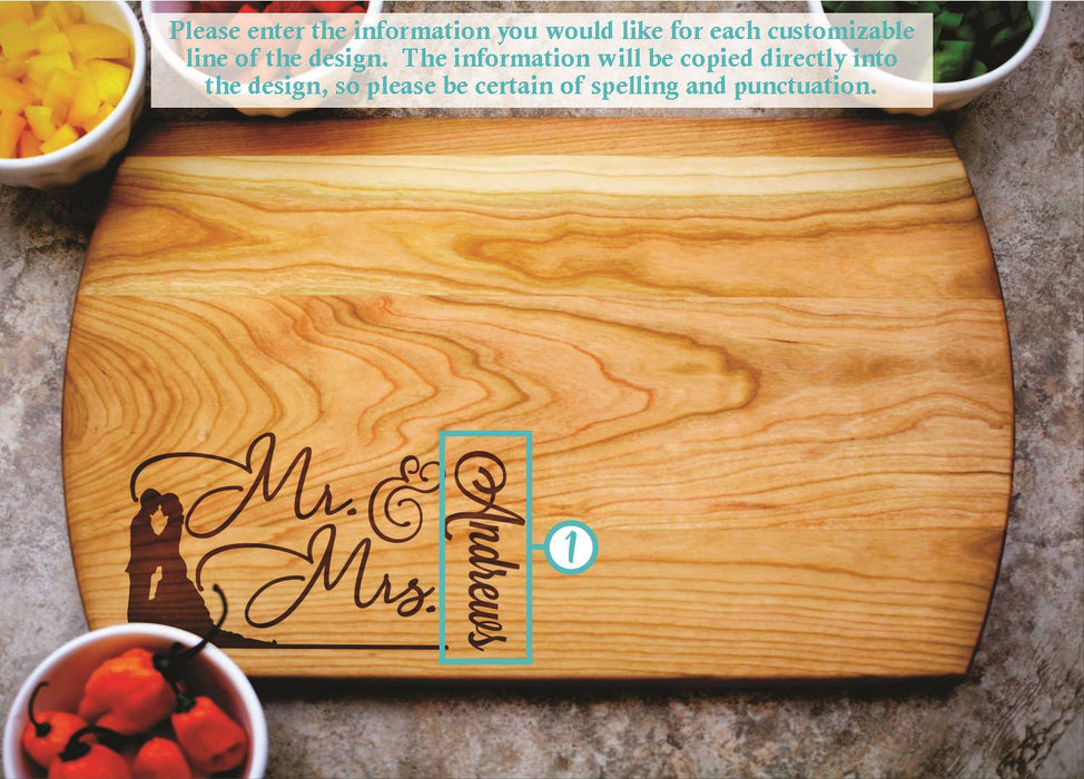 Elegance | Personalized Laser Engraved Cutting Board