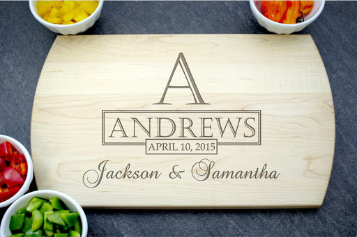 Family Beginnings | Personalized Laser Engraved Cutting Board