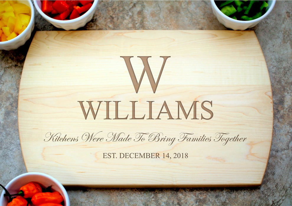 Family Kitchen | Personalized Laser Engraved Cutting Board