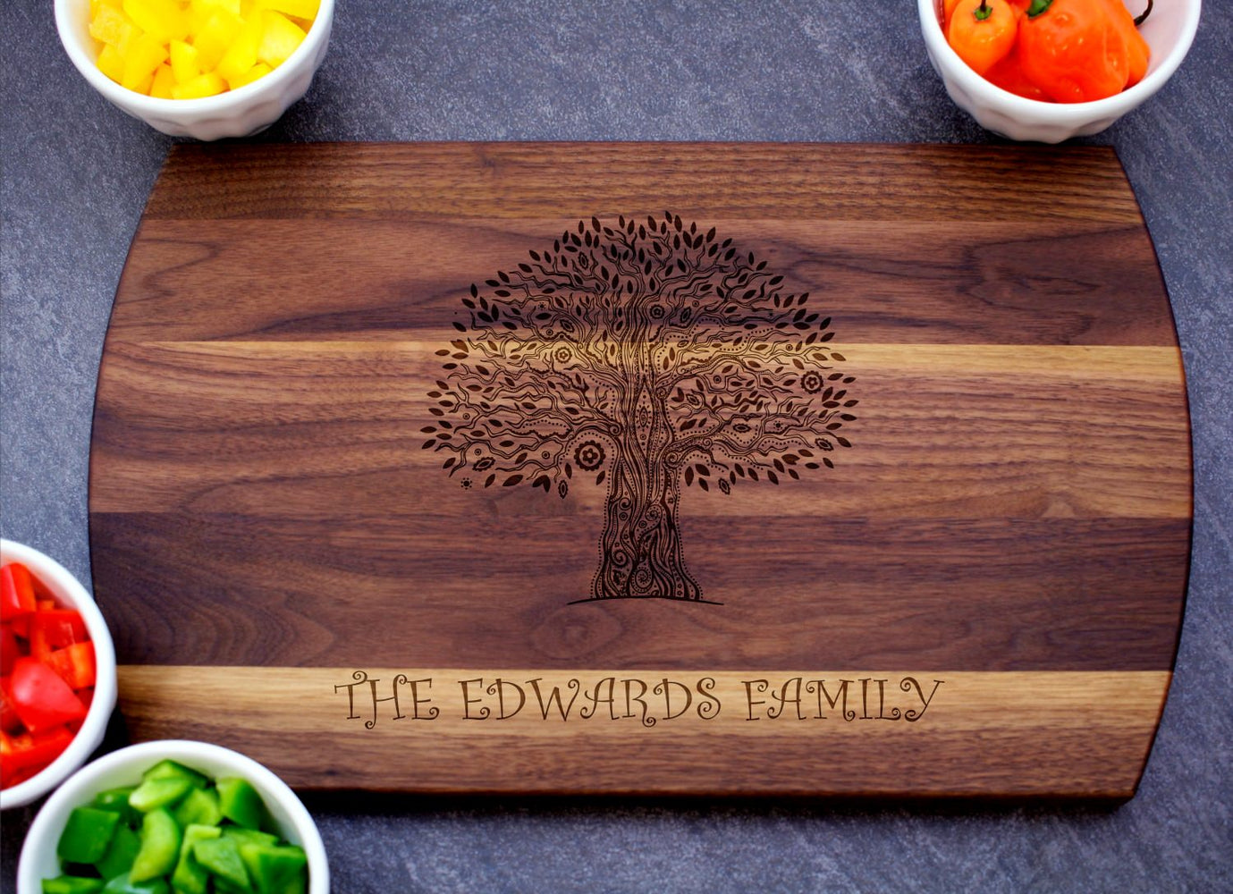 Family Tree | Personalized Laser Engraved Cutting Board