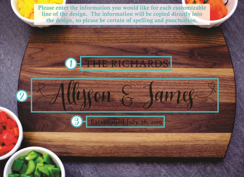 Full Hearts | Personalized Laser Engraved Cutting Board