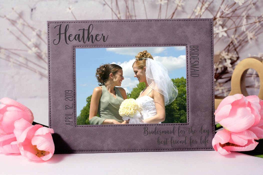 Bridesmaid Quote | Leatherette Picture Frame