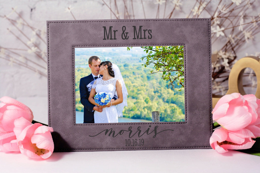 Mr & Mrs Soulmates | Leatherette Picture Frame