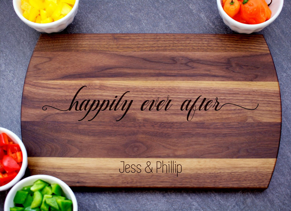 Happily Ever After | Personalized Laser Engraved Cutting Board