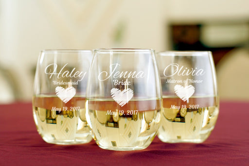 Heart | 15oz Stemless Wine Glass