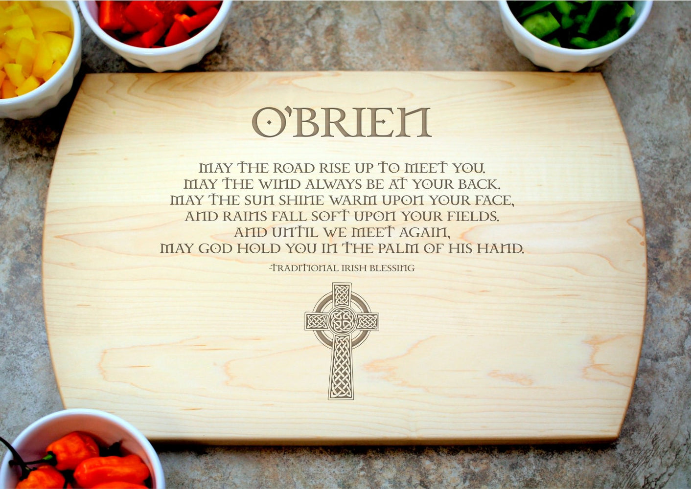 Irish Blessing | Personalized Laser Engraved Cutting Board