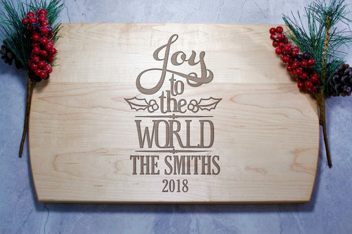 Joy to the World | Personalized Laser Engraved Cutting Board