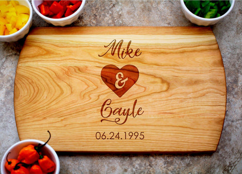Just Us | Personalized Laser Engraved Cutting Board