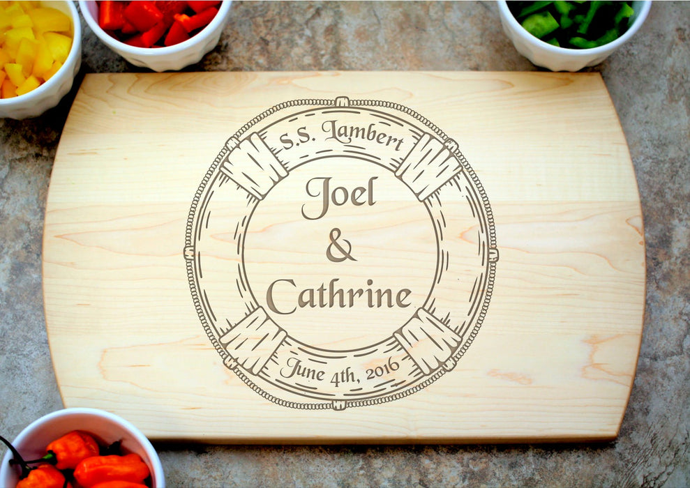 Lifesaver | Personalized Laser Engraved Cutting Board