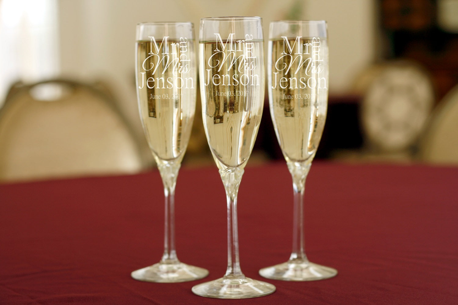 Mr and Mrs | 6oz Champagne Flute