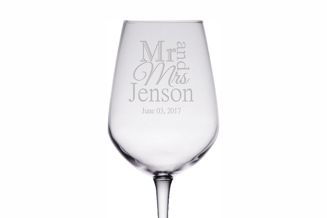 Mr and Mrs | 12.5oz Wine Glass