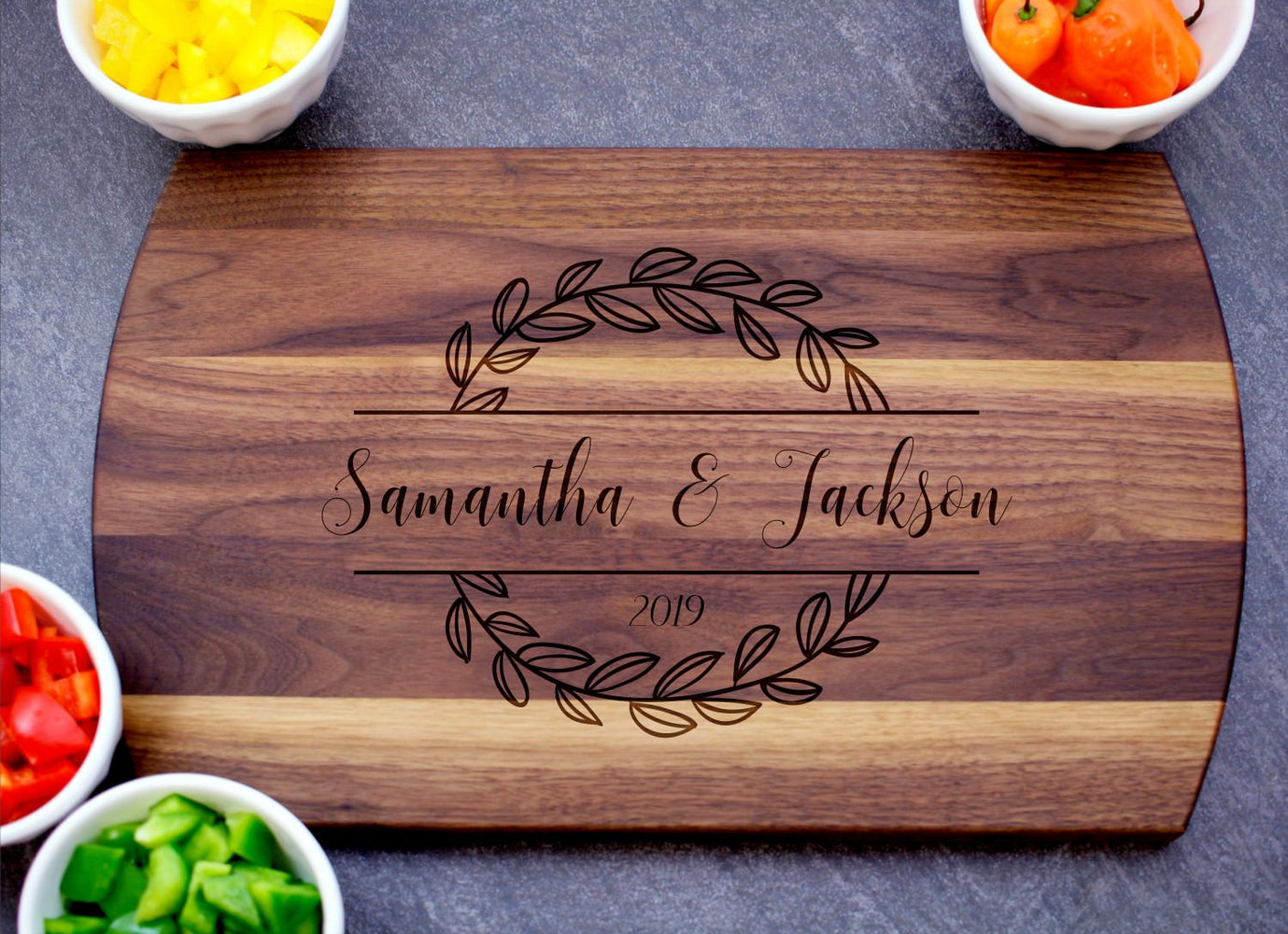 New Leaf | Personalized Laser Engraved Cutting Board