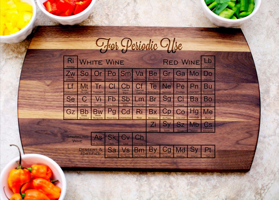 Periodic Wine Table | Personalized Laser Engraved Cutting Board