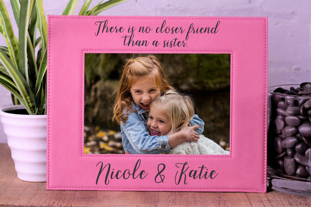 Sister Best Friends | Leatherette Picture Frame