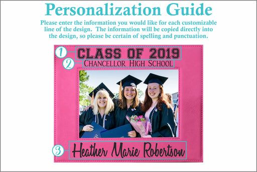 Graduation Class Of | Leatherette Picture Frame