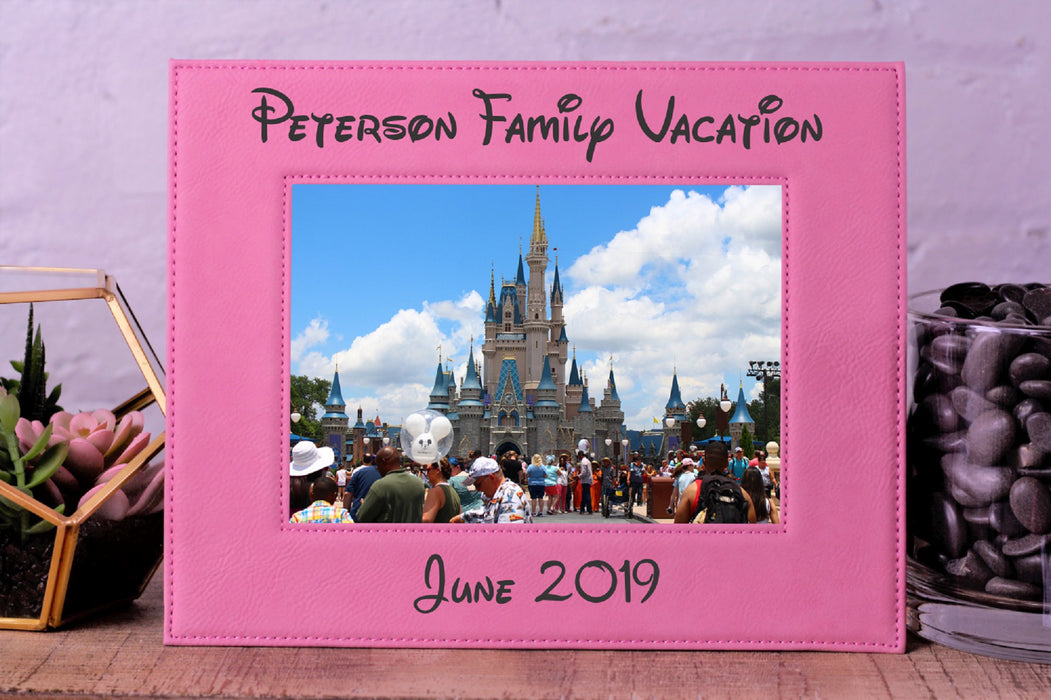 Family Vacation | Leatherette Picture Frame