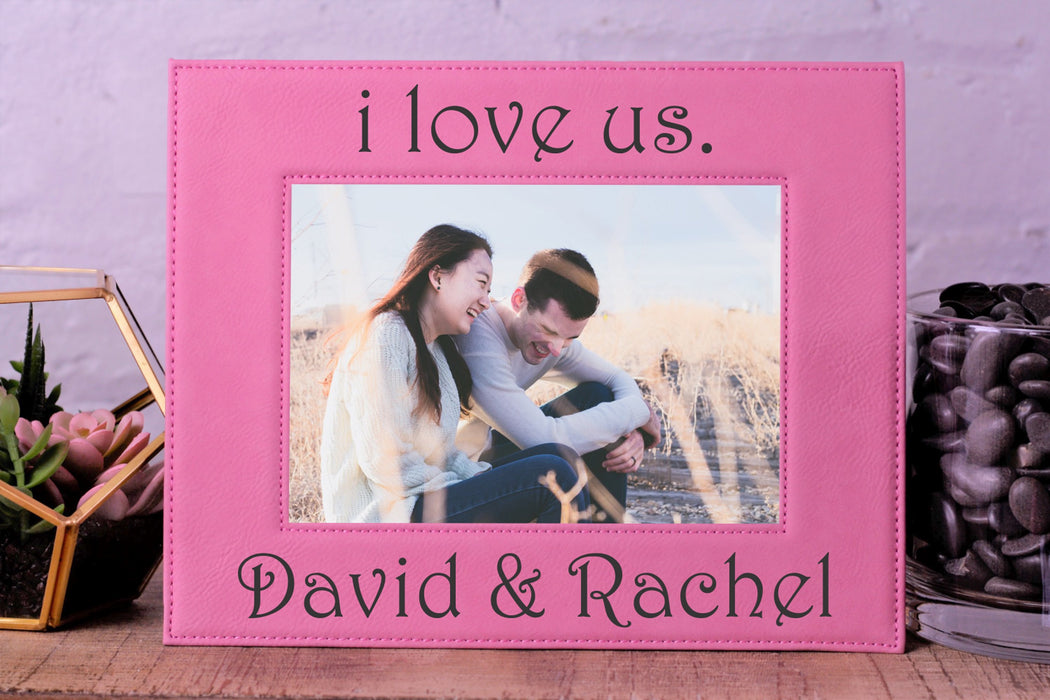 I Love Us | Leatherette Picture Frame