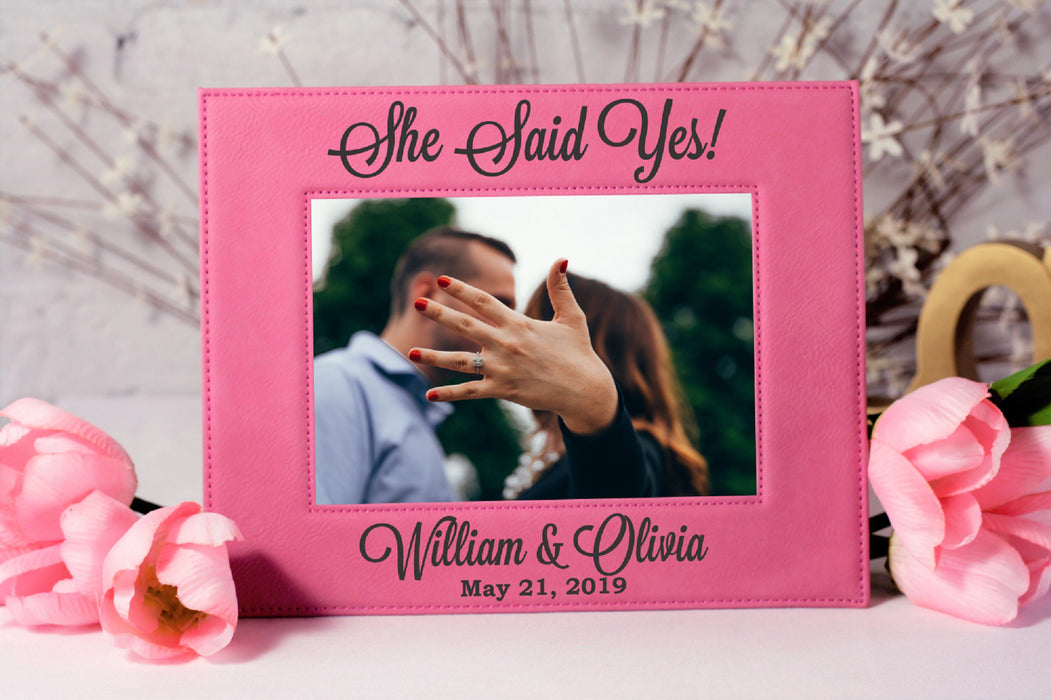 She Said Yes | Leatherette Picture Frame