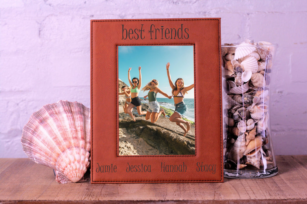 Best Friend Names | Leatherette Picture Frame
