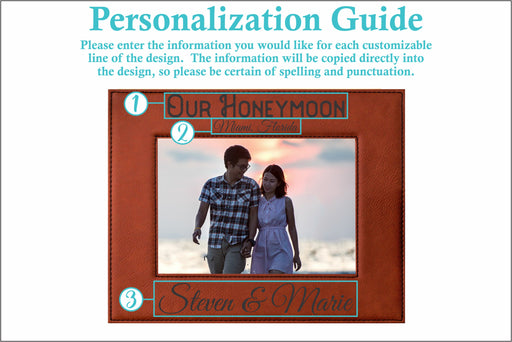 Honeymoon | Leatherette Picture Frame