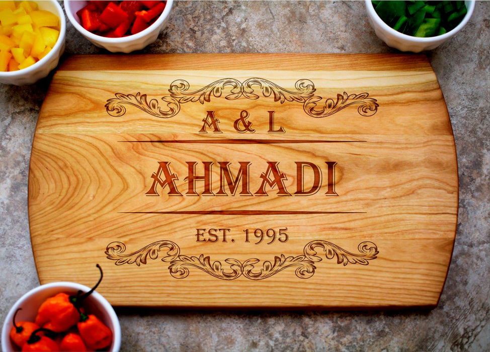 Royalty | Personalized Laser Engraved Cutting Board