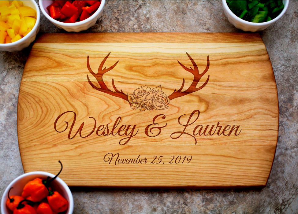 Rustic | Personalized Laser Engraved Cutting Board
