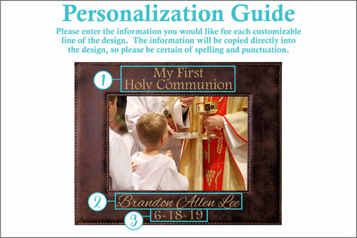 First Communion | Leatherette Picture Frame