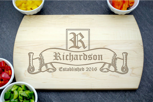 Scroll | Personalized Laser Engraved Cutting Board
