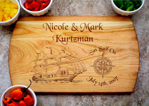 Set Sail | Personalized Laser Engraved Cutting Board