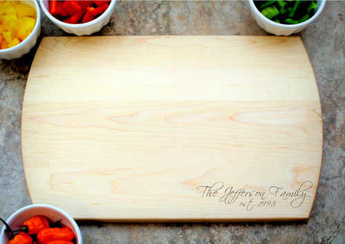Signature | Personalized Laser Engraved Cutting Board