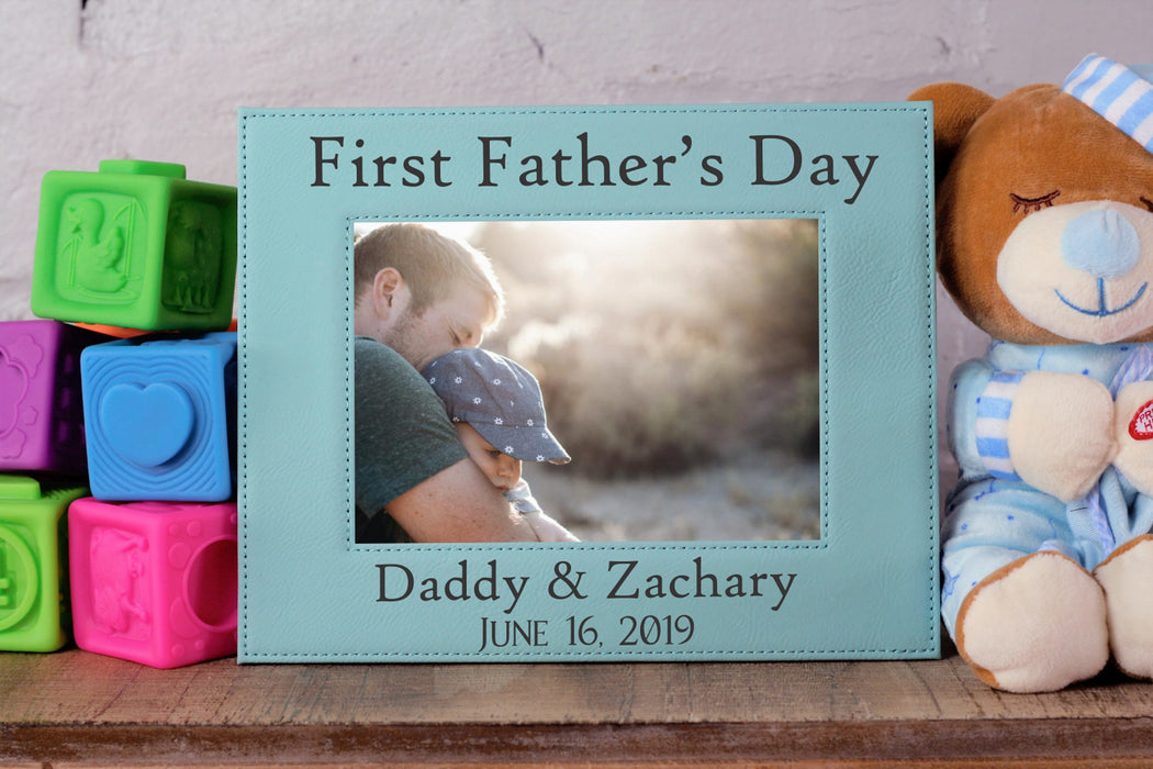 First Fathers Day | Leatherette Picture Frame