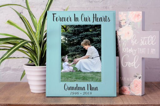 Forever In Our Hearts | Leatherette Picture Frame