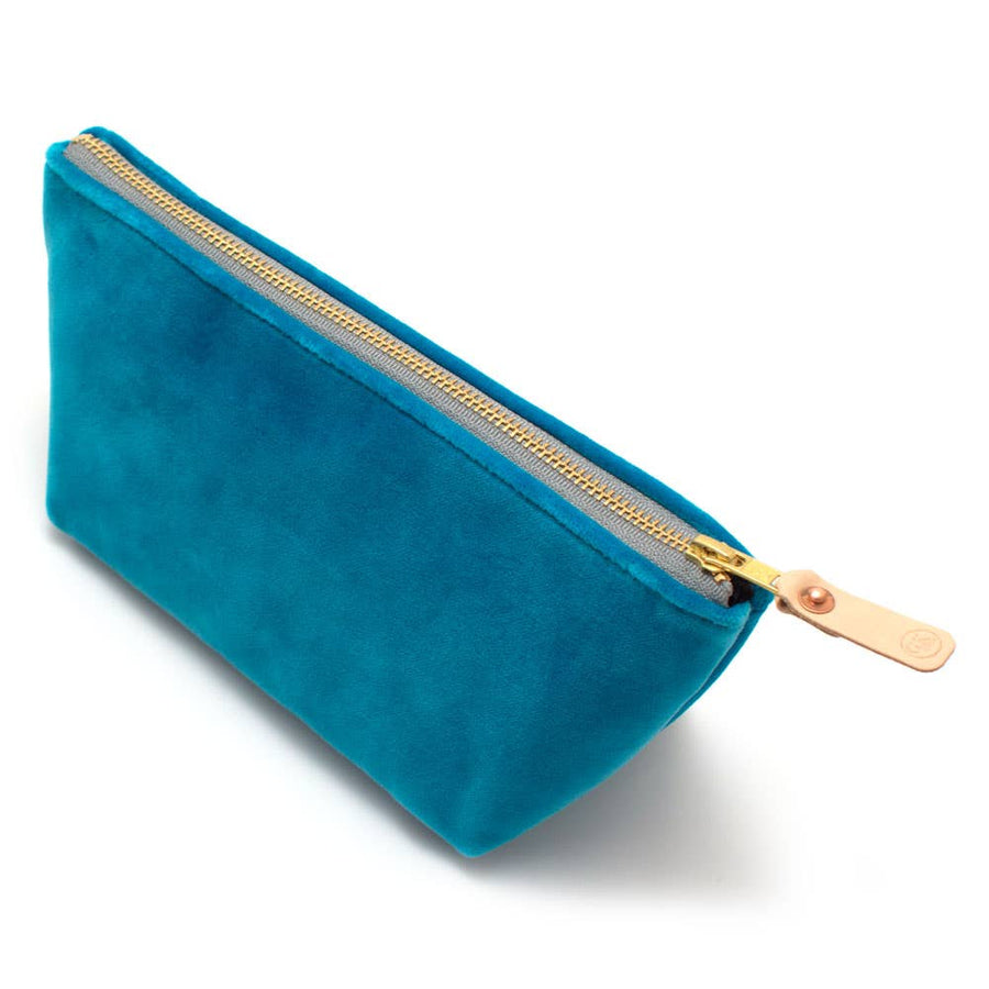 General Knot & Co. - Turquoise Velvet Travel Clutch
