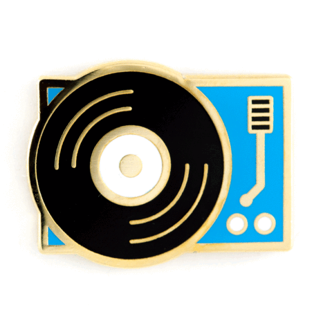 These Are Things - Record Player Enamel Pin