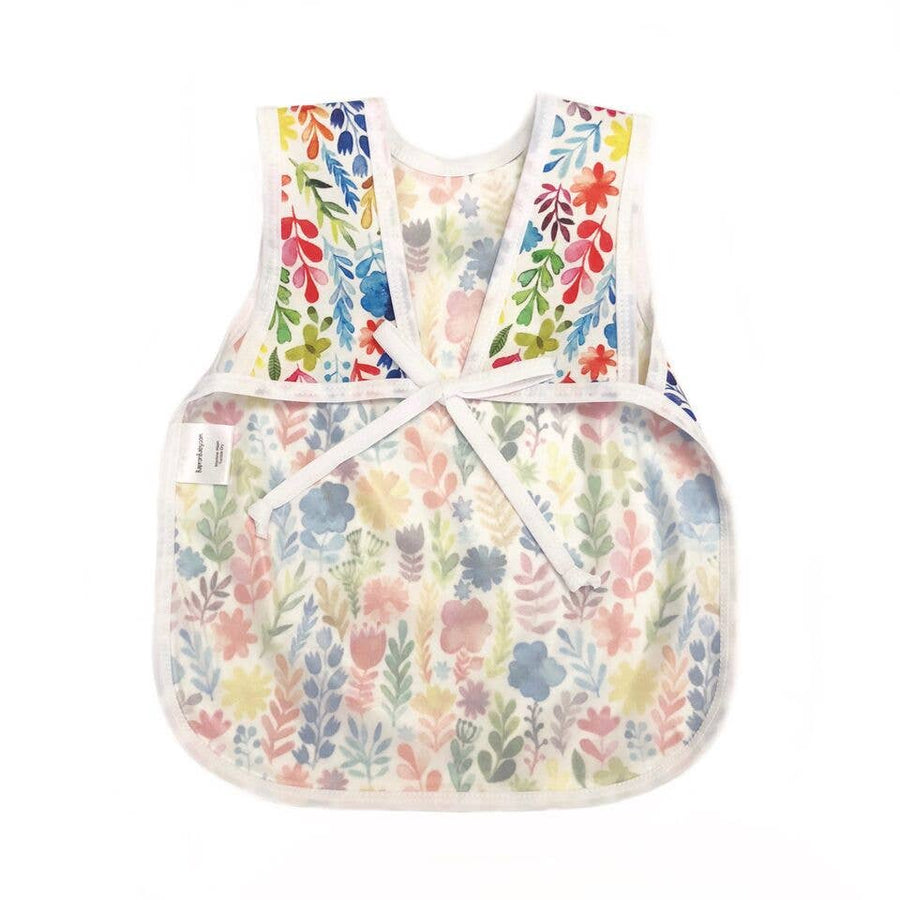 Rainbow Watercolor Floral Toddler Bapron