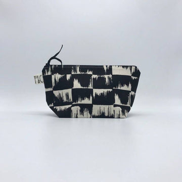 Frankie & Coco PDX - Tabor Cosmetic / Accessory Bag In Obsidian Brush Canvas