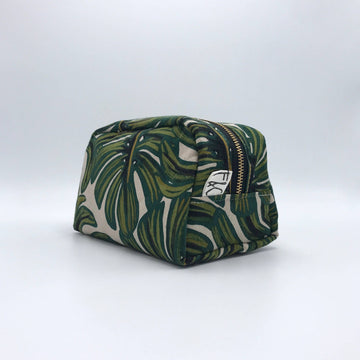 Frankie & Coco PDX - West Dopp Kit in Monstera Linen Canvas