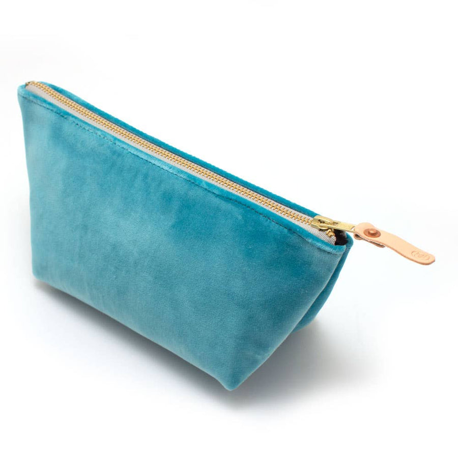 General Knot & Co. Tiffany Blue Velvet Travel Clutch