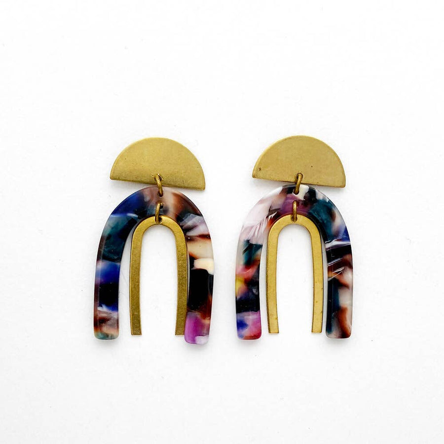 Mineral Stacked Arch Earrings