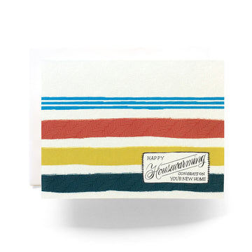 Happy Housewarming Camp Blanket Card
