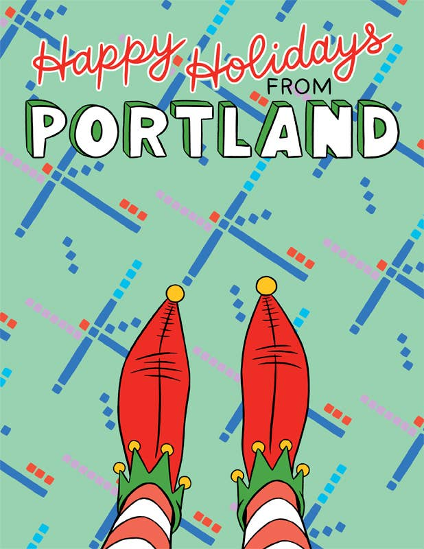 The Found - Portland Pdx Elf Booties Card - 8 Pack