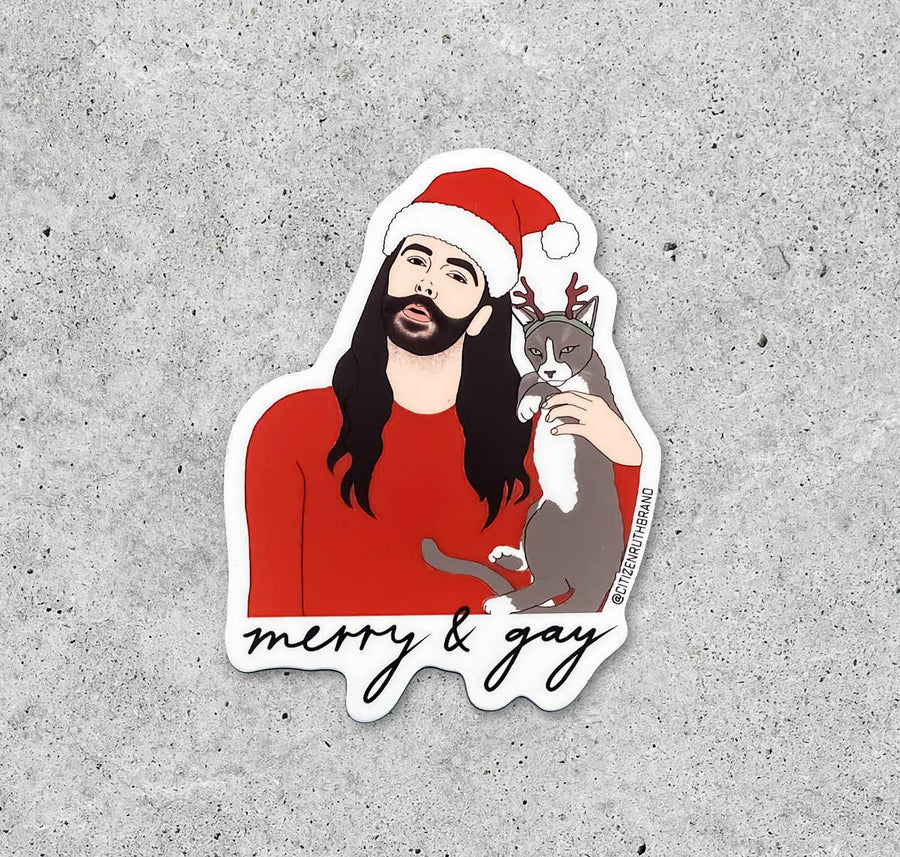 JVN Merry and Gay Sticker