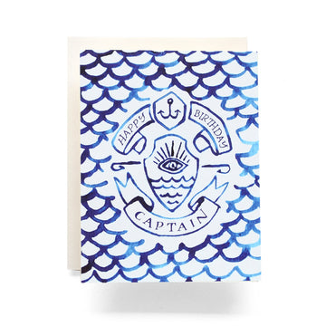 Indigo Captain Birthday Card